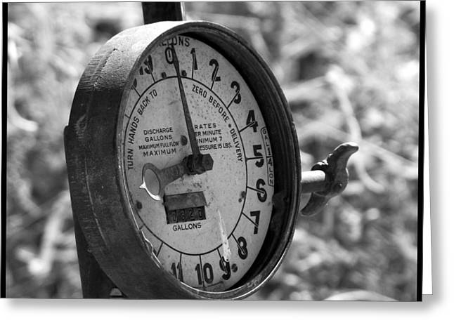 Fuel Gauge Greeting Cards - Old Weathered Fuel Guage Greeting Card by Shawn McMillan