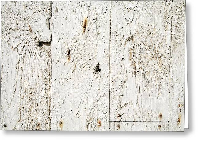 Painted Wood Greeting Cards - Old Weathered Wood Greeting Card by Ken Welsh
