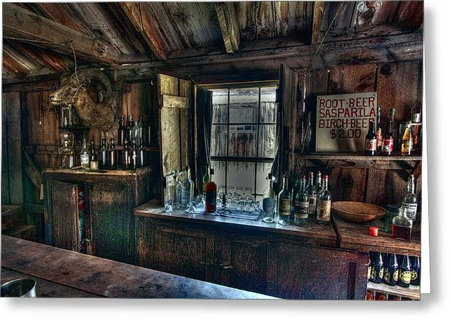 Saloons Greeting Cards - Old West Bar - Criterion Saloon Greeting Card by Daniel Hagerman