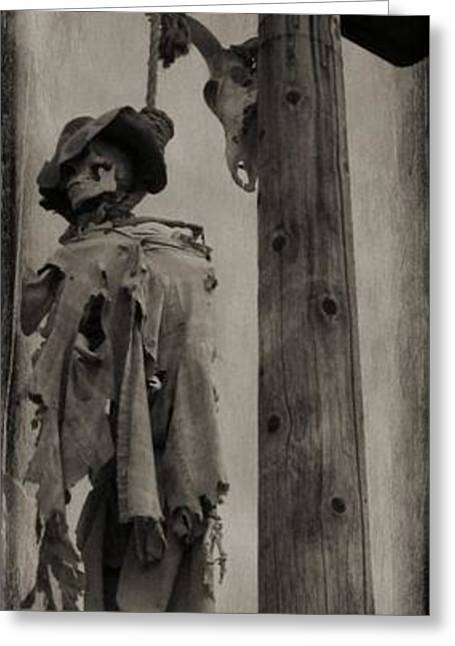 Spaghetti Greeting Cards - Old West Faux Tintype Greeting Card by John Malone