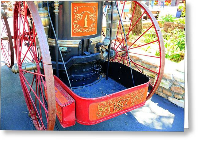 Brigade Greeting Cards - Old West Fire Wagon v3 Greeting Card by John Straton