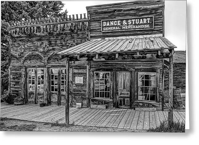 Grocery Store Greeting Cards - Old West General Store - Virginia City Ghost Town Greeting Card by Daniel Hagerman