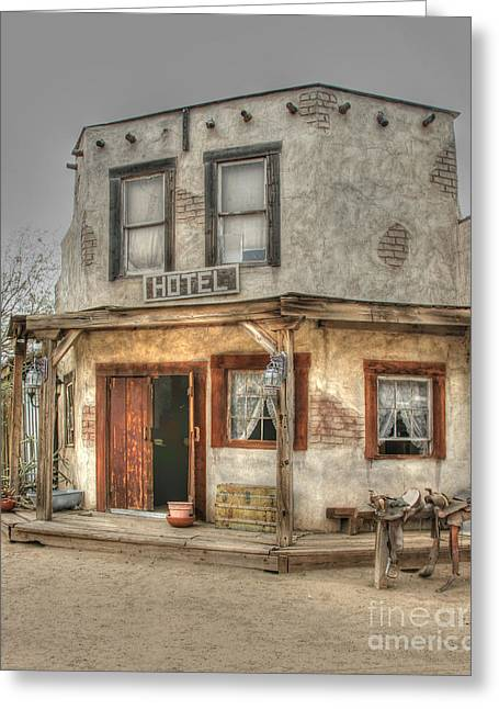 Tap On Photo Greeting Cards - Old West Hotel Greeting Card by Tap  On Photo