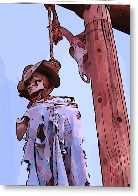 Spaghetti Digital Art Greeting Cards - Old West Justice Greeting Card by John Malone