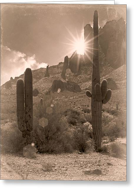 Old Western Photos Greeting Cards - Old West Greeting Card by Lisa S Baker