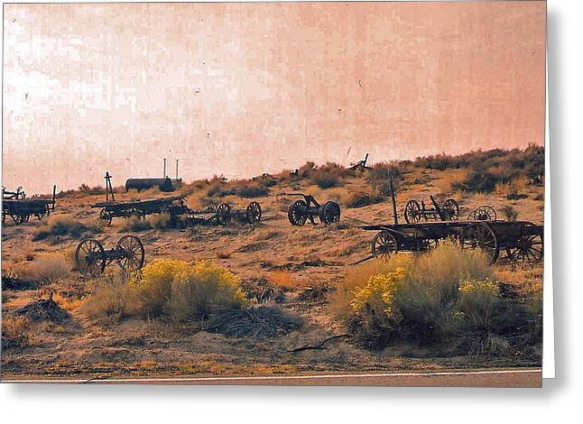 Old Western Photos Digital Art Greeting Cards - Old west Parked Greeting Card by Joseph Wiegand