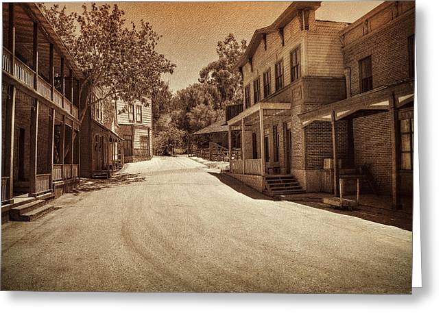 Universal.old Images Greeting Cards - Old West Greeting Card by Ricky Barnard