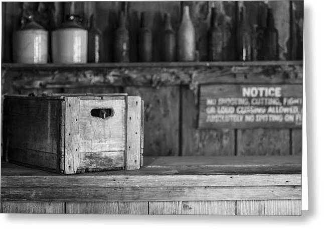 Old West Saloon Greeting Card by Amber Kresge