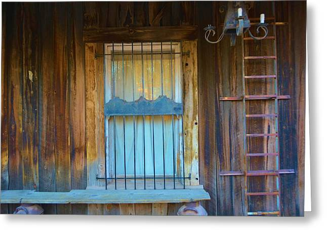 Shack Greeting Cards - Old West Shack Greeting Card by Richard Jenkins