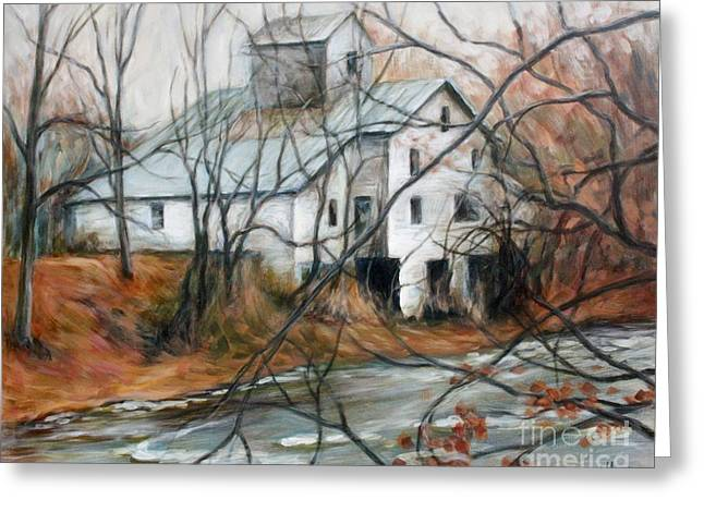 Old Wf Mill Greeting Card by Linda Hall