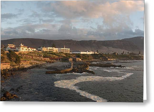 Water Flowing Greeting Cards - Old Whaling Station With A Town Greeting Card by Panoramic Images
