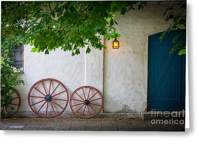 Scandinavian Greeting Cards - Old Wheels Greeting Card by Inge Johnsson