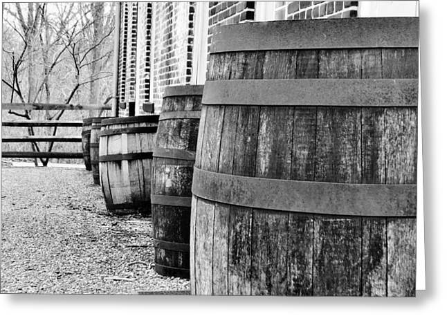 Historic Home Greeting Cards - Old Whisky Barrels Greeting Card by Michelle Milano
