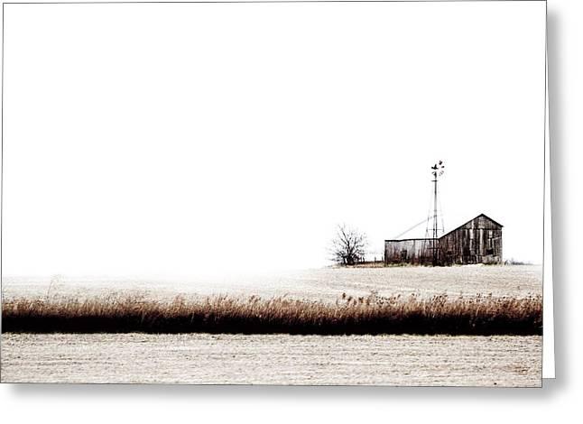 Old Wind Farm Greeting Card by Michael Huddleston