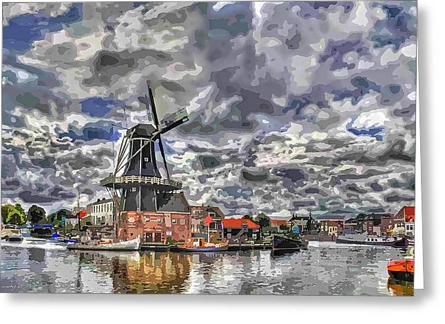 Old Windmill On The Shore Greeting Card by Maciej Froncisz