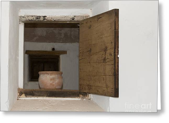 Aperture Greeting Cards - Old window hatch Greeting Card by Christina Rahm