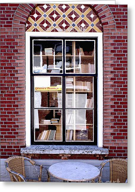 Old Window Greeting Cards - Old Window with Books Greeting Card by George Siedler