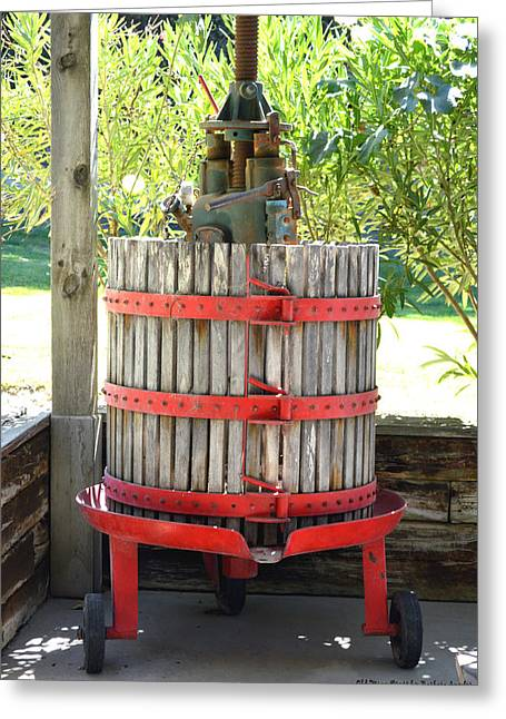 Old Wine Press Greeting Card by Barbara Snyder