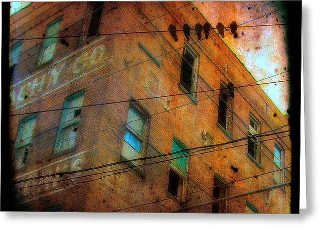 Old Wires Greeting Card by Gothicolors Donna