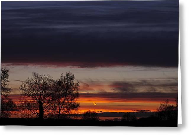 Milton Keynes Greeting Cards - Old Wolverton sunset Greeting Card by David Isaacson