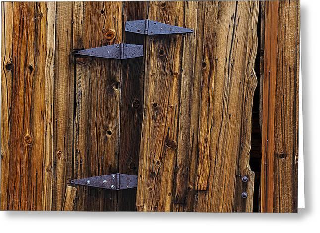 Barn Door Greeting Cards - Old Wood Barn Greeting Card by Garry Gay