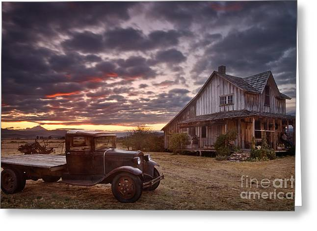 Siskiyou County Greeting Cards - Old Wood House in Oregon Greeting Card by Sean Bagshaw