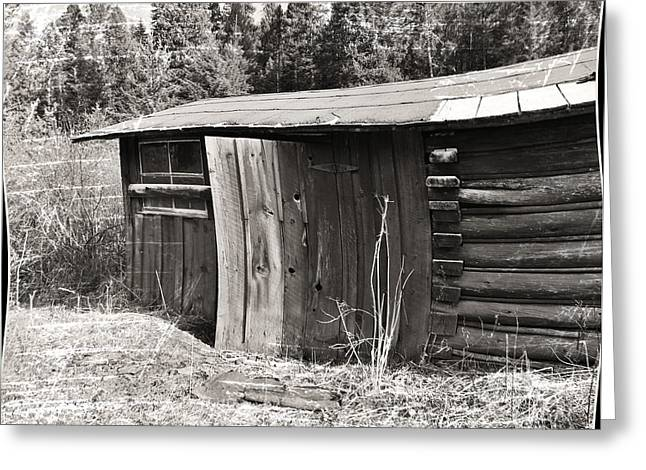 Montana Greeting Cards - Old Wood Shed Out Back Greeting Card by Susan Kinney