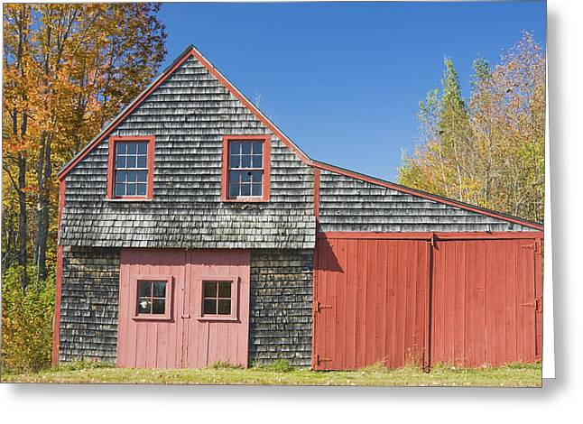 Wooden Shed Greeting Cards - Old Wood Shingle Shed Greeting Card by Keith Webber Jr