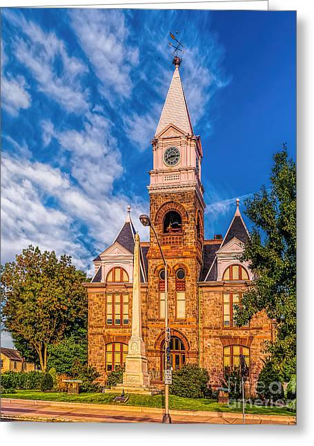 Woodbury Greeting Cards - Old Woodbury Courthouse Greeting Card by Nick Zelinsky