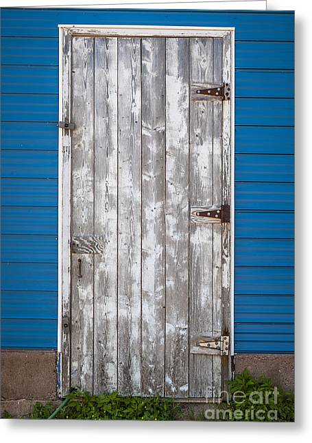 Unpainted Greeting Cards - Old wooden door Greeting Card by Elena Elisseeva