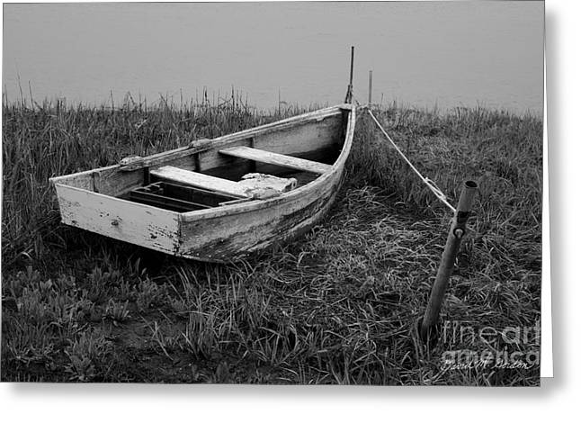 Stream Digital Art Greeting Cards - Old Wooden Rowboat II Greeting Card by David Gordon