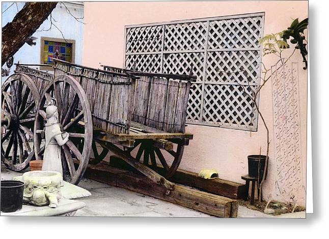 Old Wooden Wagon Greeting Card by Marilyn Hunt