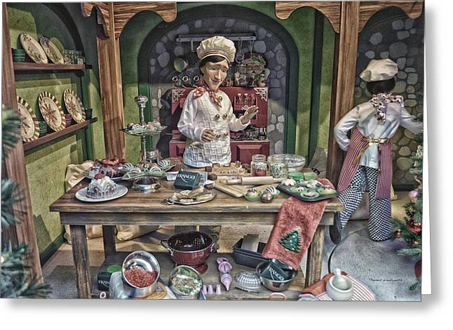 Pan Cakes Greeting Cards - Old World Christmas Chef HDR Greeting Card by Thomas Woolworth