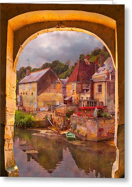 Best Sellers -  - Swiss Photographs Greeting Cards - Old World Greeting Card by Debra and Dave Vanderlaan