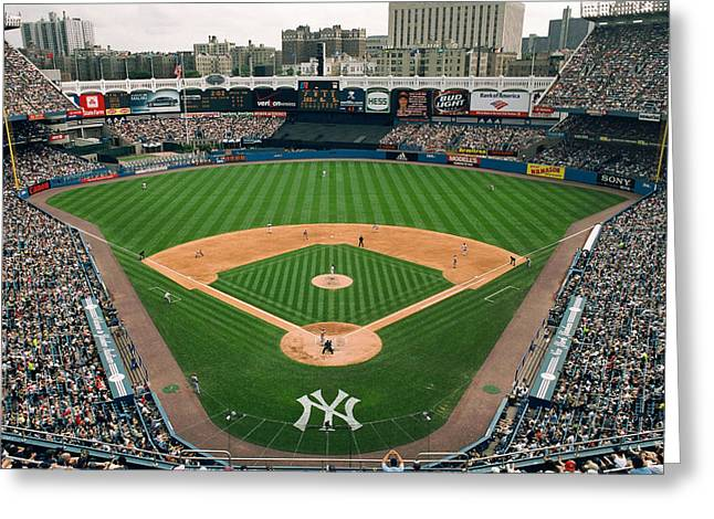 Yankee Stadium Greeting Cards - Old Yankee Stadium Photo Greeting Card by Horsch Gallery