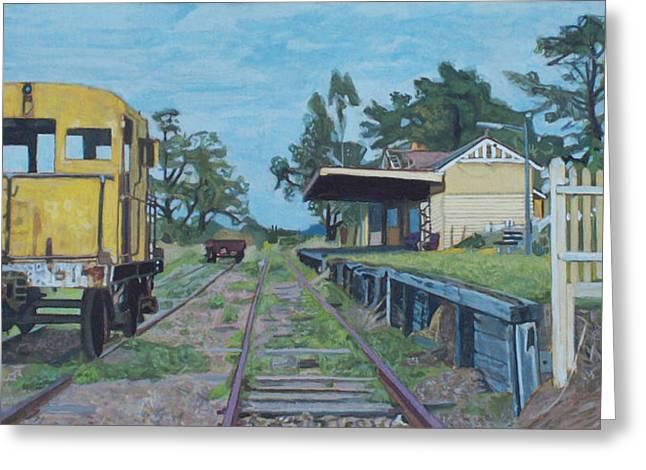 Photorealist Greeting Cards - Old Yarra Glen railway station Greeting Card by Bert Ernie