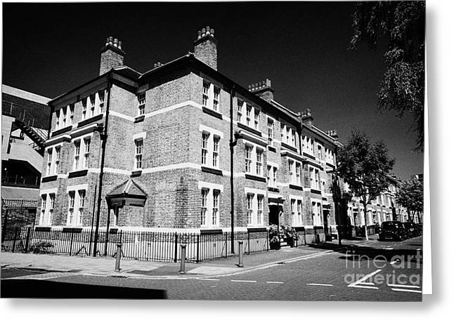 Historic Home Greeting Cards - old yellow brick properties in the conservation area of mitre road waterloo London England UK Greeting Card by Joe Fox