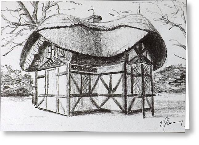 Thatch Drawings Greeting Cards - Old Zoo Entrance Greeting Card by Tony Gunning