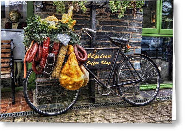 Grocer Greeting Cards - Olde Bike Greeting Card by Ian Mitchell