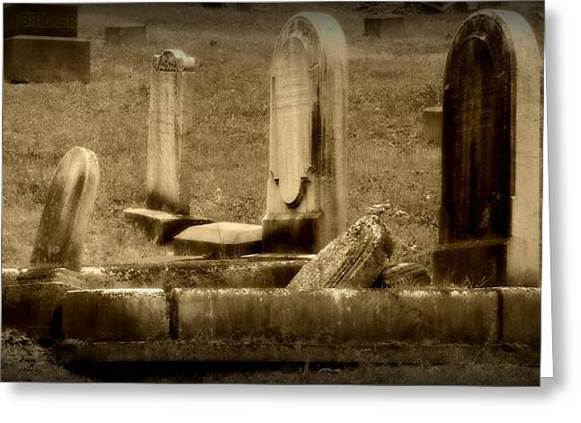 Errosion Greeting Cards - Olde Graves Greeting Card by Michele Nelson