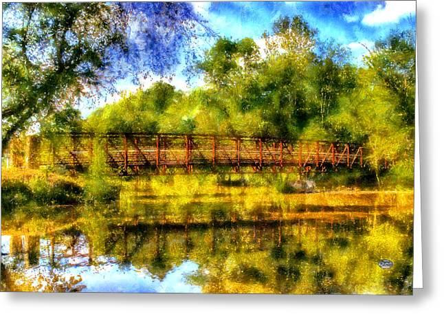 Olde Greeting Cards - Olde Rope Mill Bridge Greeting Card by Daniel Eskridge