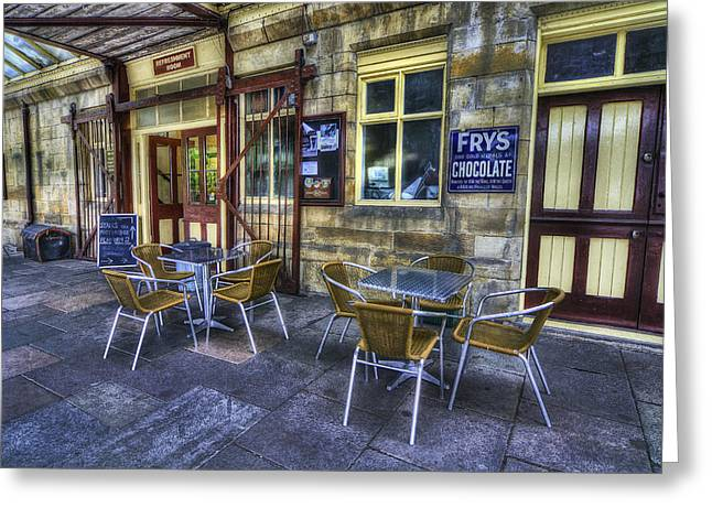 Old Cafe Greeting Cards - Olde Station Cafe Greeting Card by Ian Mitchell