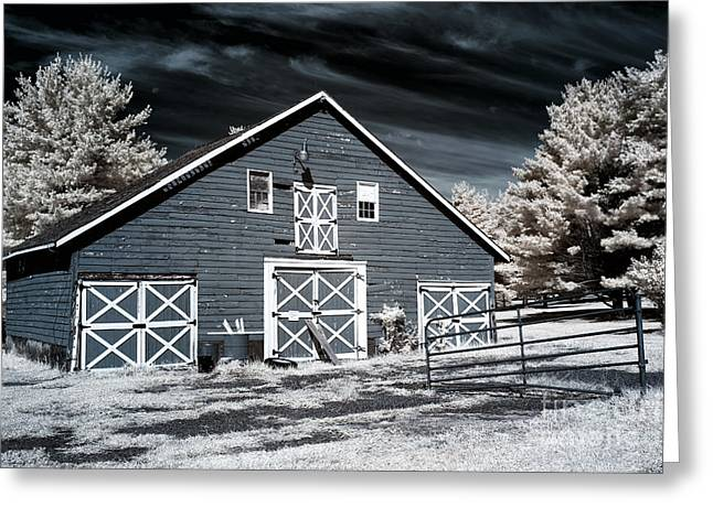 Ir Photography Greeting Cards - Olde Towne Barn Greeting Card by John Rizzuto