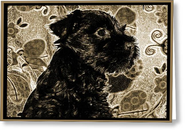 Recently Sold -  - Puppies Digital Greeting Cards - Olde World Canine Greeting Card by Brian Graybill