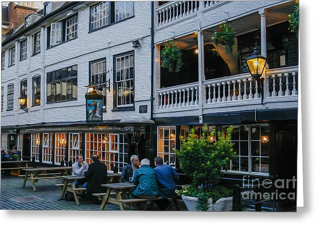 Oldest Coaching Inn In London Greeting Card by Patricia Hofmeester