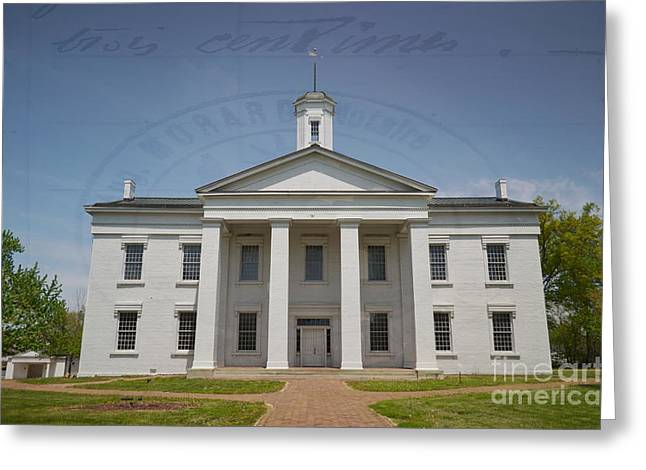 State Legislator Greeting Cards - History  - Oldest Illinois Capitol Building - Luther Fine Art Greeting Card by Luther   Fine Art