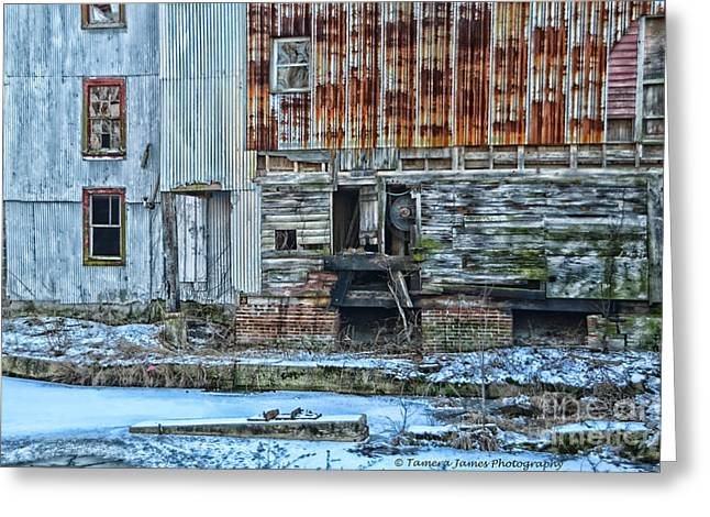 Old Feed Mills Photographs Greeting Cards - OldMill Greeting Card by Tamera James