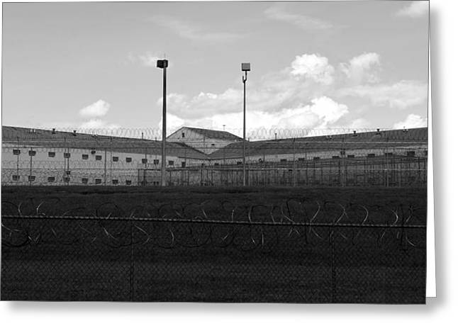 Polk County Florida Greeting Cards - Old school prison Greeting Card by David Lee Thompson