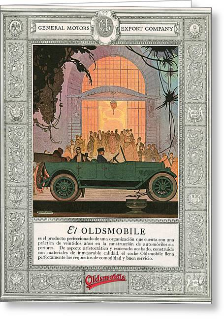American Automobiles Greeting Cards - Oldsmobile 1920 1920s Usa Cc Cars Greeting Card by The Advertising Archives