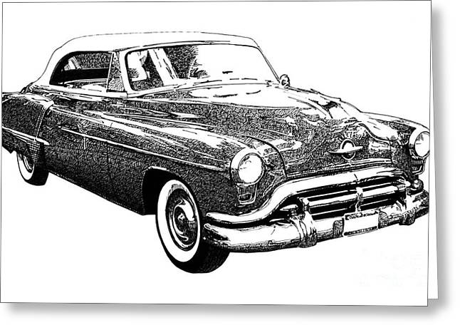 Oldsmobile 1952 Greeting Card by Pablo Franchi